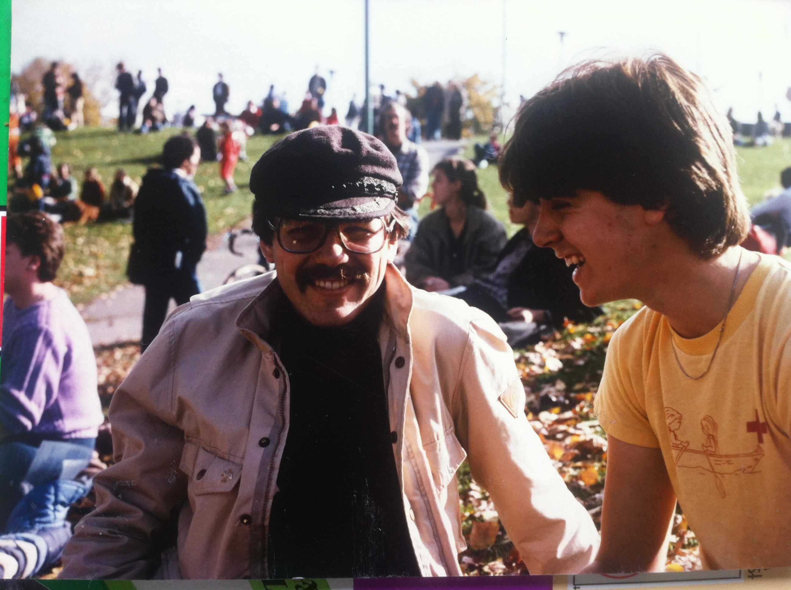 My first mentor John Lawson and me at a Bruce Cockburn concert c. 1984